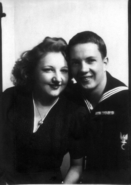 Joe Hoppe and his wife Charlotte in 1943.